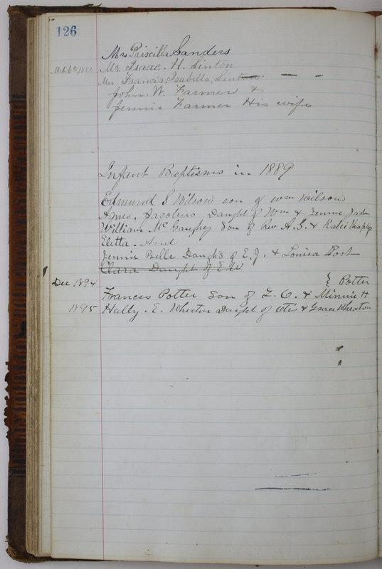 Sessional Records of the 1st Presbyterian Church of Trenton Delaware County Ohio 1873-1937 (p. 118)