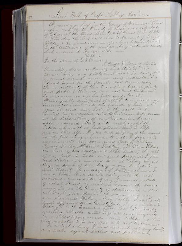 Delaware County Ohio Will Records Vol. 1 1812-1835 (p. 128)