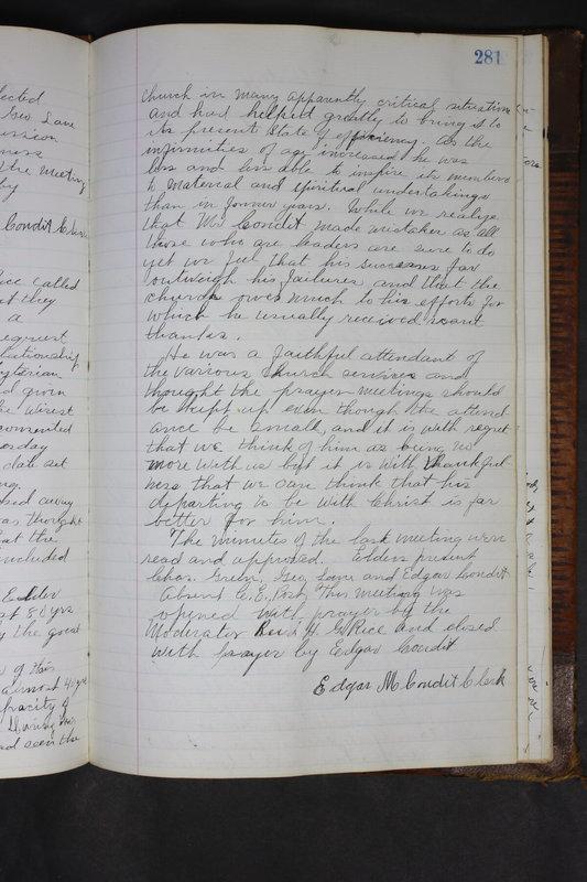 Sessional Records of the 1st Presbyterian Church of Trenton Delaware County Ohio 1873-1937 (p. 268)