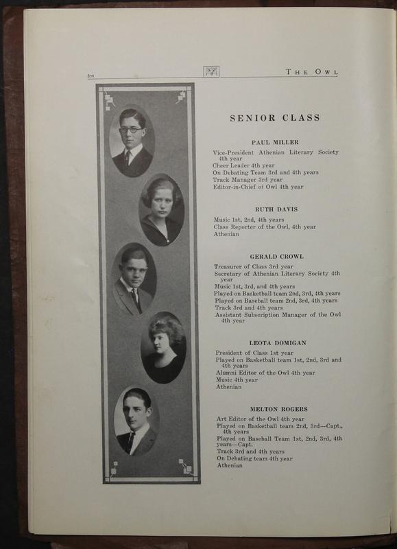 The Owl, Vol. II, 1922 (p.12)