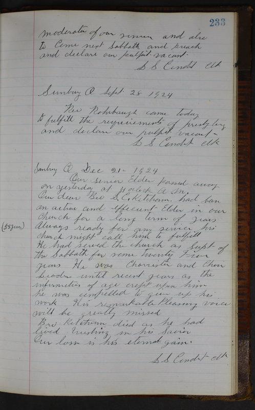Sessional Records of the 1st Presbyterian Church of Trenton Delaware County Ohio 1873-1937 (p. 221)
