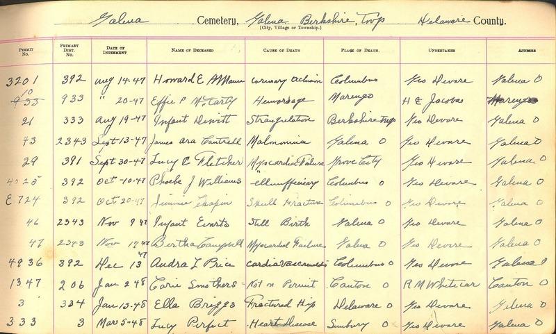 Cemetery Record Galena and Berkshire Cemetery (p. 30)