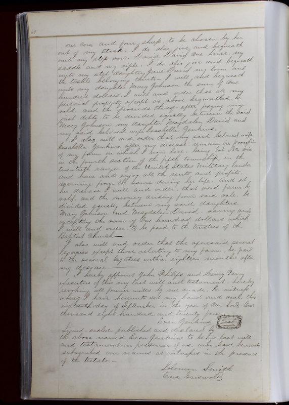 Delaware County Ohio Will Records Vol. 1 1812-1835 (p. 92)
