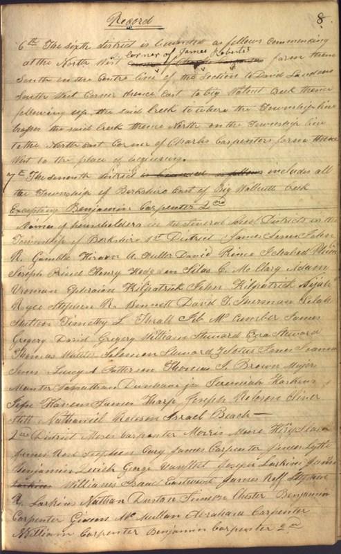 Record Book of Berkshire Township No. 2 1807-1843 (p. 21)