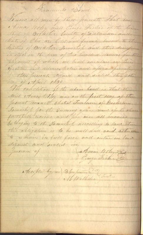 Record Book of Berkshire Township No. 2 1807-1843 (p. 100)