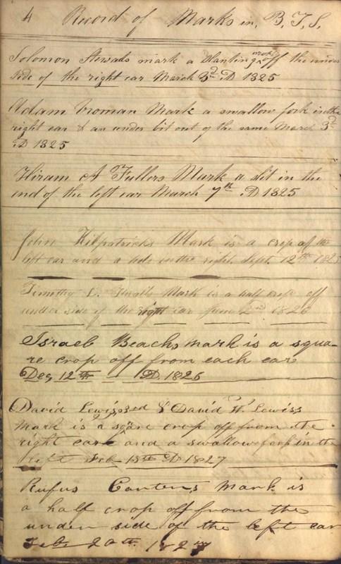 Record Book of Berkshire Township No. 2 1807-1843 (p. 10)