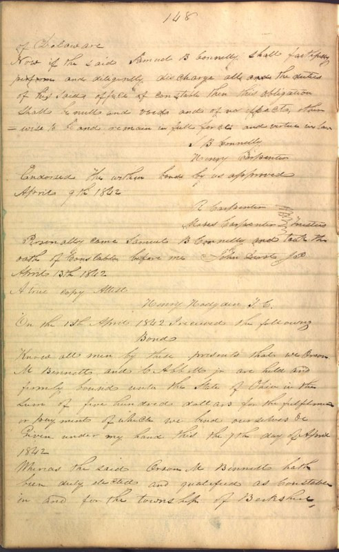 Record Book of Berkshire Township No. 2 1807-1843 (p. 162)