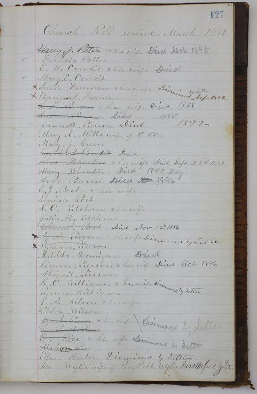 Sessional Records of the 1st Presbyterian Church of Trenton Delaware County Ohio 1873-1937 (p. 119)
