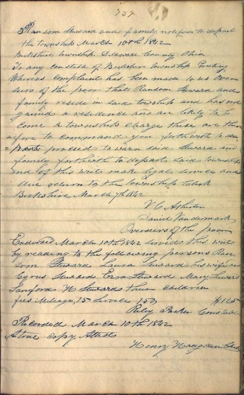 Record Book of Berkshire Township No. 2 1807-1843 (p. 153)