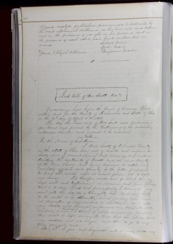 Delaware County Ohio Will Records Vol. 1 1812-1835 (p. 74)