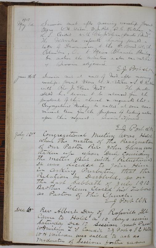 Sessional Records of the 1st Presbyterian Church of Trenton Delaware County Ohio 1873-1937 (p. 80)