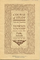 Course of Study Rules and Regulations of Thompson Township Delaware County, Ohio Public Schools (p. 1)