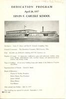 Dedication Program of Ervin F. Carlisle School (p. 1)