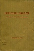 James A. Conger Elementary School Dedication Program (p. 1)