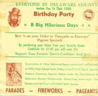 Delaware County Sesquicentennial  (p. 1)