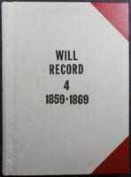 Delaware County Ohio Will Records Vol. 4 1859-1869