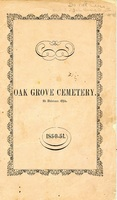 Oak Grove Cemetery at Delaware, Ohio 1850-51